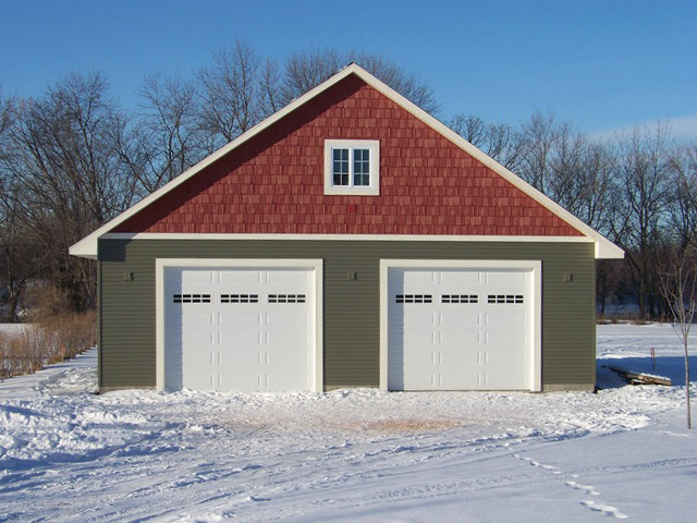 Minnesota garage building attached and detached garages for Building a two car garage