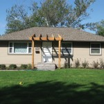 Siding Project After With Covered Porch/Pergola